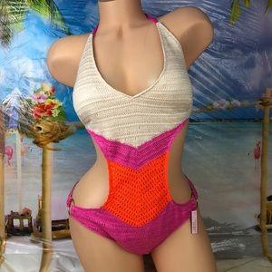 ! Victoria's Secret crochet onepiece swimsuit